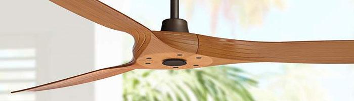 ventilateur plafonnier en bois