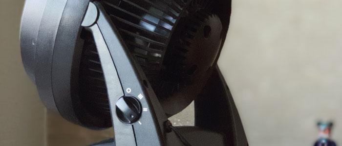 Vue Arrière du Circulateur d'air Vornado 630 avec réglage des vitesses