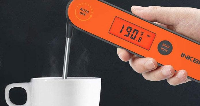 Thermomètre de cuisson numérique à sonde rétractable Inkbird IHT-1P hautes performances