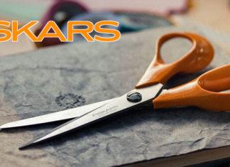 Paire de ciseaux ergonomique orange Fiskars
