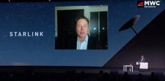Elon Musk à l'occasion de la conférence MWC Barcelona 2021